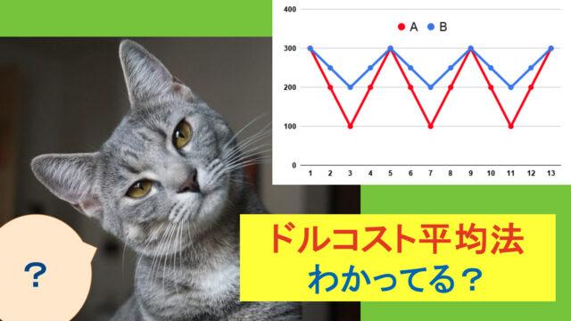 ドルコスト平均法とネコ